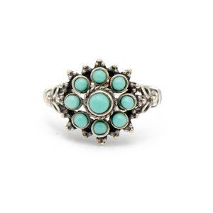 Jewelry - Turquoise Cluster Silver Ring
